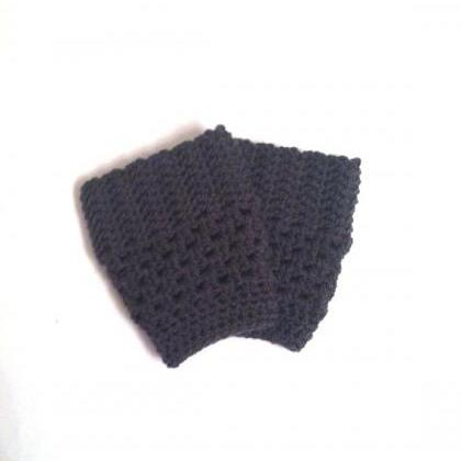 Charcoal Gray Boot Cuffs